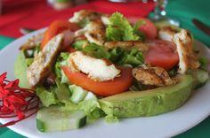 Grilled chicken salad Hotel Costa Coral Restaurant, Tambor, Costa Rica #fun #vacation #family #food #foodie