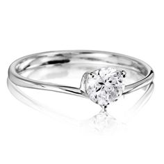 Amara diamond solitaire engagement ring by Fei Liu Diamond Solitaire Rings, Diamond Wedding Rings, Diamond Engagement Rings, Wedding Ring For Her, Rings Online, Miniture Things, Beautiful Rings, Jewellery, Wedding Stuff