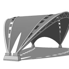 4 Appealing Clever Tips: Roofing Construction How To Build steel roofing cottage.Rib Steel Roofing tin roofing homes. Fabric Structure, Roof Structure, Shade Structure, Steel Structure, Car Canopy, Membrane Structure, Tensile Structures, Space Frame, Modern Roofing
