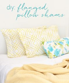 One of the simple sew projects that never made it into the Lookbook from the spring fabric collection was this easy flanged pillow sham project, so I'm sharing it today. The flanged edge is a term used to describe the flap of fabric that borders a pillow sham. I love cotton flanged pillows shams after …
