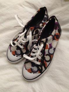 NEW Coach BARRETT Purple Multi OP Art Tennis Sneakers Shoes