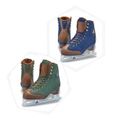 Figure Skates Softec Women's Sierra ST6000 https://figureskatingstore.com/brands/Jackson-Ultima.html Available in Denim Blue or Hunter Green Fleece lined upper & tongue