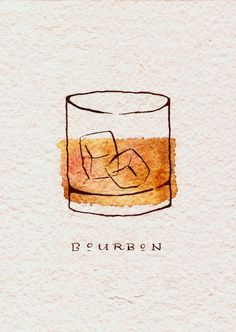Bourbon Art Print: Need a birthday gift for a whiskey lover? Nothing will make t… Bourbon Art Print: Need a birthday gift for a whiskey lover? Nothing will make them want to pour a glass like this boozy art print. Bourbon, Whisky, Easy Watercolor, Watercolor Paintings, Painting Art, Food Painting, Painting Tattoo, Painting Quotes, Art Paintings