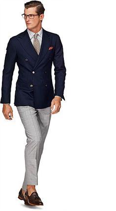Pure Wool Navy Double Breasted Soho Jacket