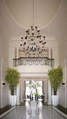 Mosaic floor and railing love all the soft details.    Burlington So grand. Interior inspiration | Interior Design Project: Contemporary Classicism | Regina Sturrock Design Inc