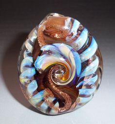 COCOA  - Lampwork Focal Bead- SRA. $16.00, via Etsy.