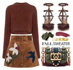 """""""#fallsweater"""" by miee0105 ❤ liked on Polyvore featuring TIBI, RED Valentino, Valentino, Burberry, Gorjana and Bobbi Brown Cosmetics"""