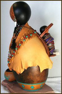 Still Water Designs Gourd Art by Norma - Gourd Dolls, Gourd Masks, Gourd Jewelry, Gourd Boxes Native American Decor, Native American Artwork, Decorative Gourds, Hand Painted Gourds, Feather Painting, Tole Painting, Navajo Art, Southwestern Art, Spirited Art