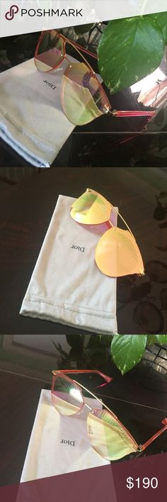 Christian Dior Sunglasses Pink and Gold mirrored lenses Christian Dior Accessories Glasses