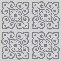 Wallflower Continuous Pattern #3 on Reusable 10MIL Laser-Cut Stencil…