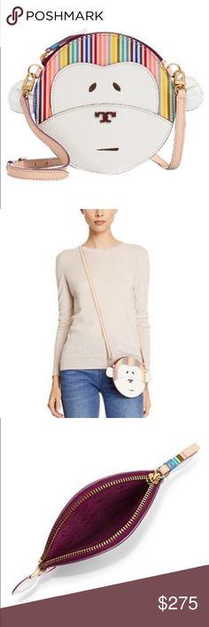 "✨NWT✨ Tory Burch Monkey Logo Block T Crossbody Bag NWT! Authentic Tory Burch multi color monkey leather crossbody bag. Front pocket. Top zip closure. Adjustable crossbody strap has a 23"" drop. Bag measures 6.77""x6.77"". ***No Trades*** Tory Burch Bags Crossbody Bags"