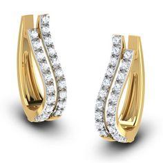 White Gold Round-Cut Diamond Stud Earrings J-K Color, Clarity) – Finest Jewelry Diamond Earrings Indian, Diamond Necklace Set, Diamond Earing, Diamond Hoop Earrings, Diamond Jewelry, Gold Jewelry, Stud Earrings, Antique Jewellery Designs, Gold Earrings Designs
