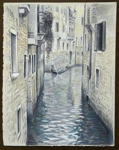 Travel Drawing: Venice, Italy Prismacolor Pencil on gray paper x 2017 Travel Essentials For Women, Packing Tips For Travel, New Travel, Travel Style, Prismacolor, Perspective Pictures, Travel Drawing, Travel Design, United States Travel