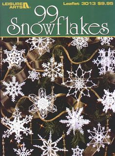 crochet snowflakes - free ebook patterns                                                                                                                                                                                 More