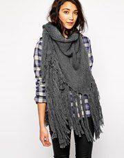 Esprit Chunky Cable Knit Wrap Scarf