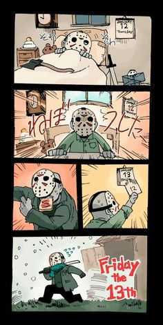 Friday the Jason Voorhees, Horror Characters, Horror Movies, Funny, Pixiv (Credits for the Artist) - Horror Movies Funny, Horror Movie Characters, Scary Movies, Jason Voorhees, Arte Horror, Horror Art, Horror Film, Slasher Movies, Horror Icons