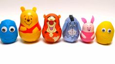 Winnie the Pooh Matryoshka Dolls with Play-Doh Surprise Eggs - Peppa Pig...