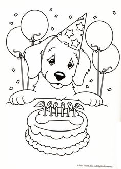 Cute Puppy Pictures To Color 085