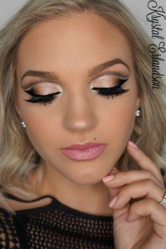 Makeup Geek Eyeshadows in Americano, Cocoa Bear, Corrupt and Mocha + Makeup Geek Foiled Eyeshadow in In The Spotlight. Look by: Krystal Erlandson