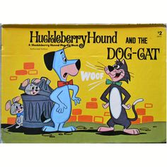 Vintage 1974 Huckleberry Hound and the Dog Cat Pop Up Childrens Book