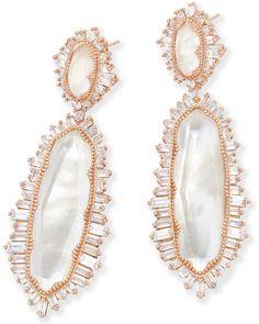 Katrina Statement Earrings in Rose Gold - Kendra Scott Weddings.