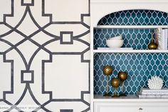 I need this stenciled china cabinet from @Sarah Chintomby Chintomby Chintomby Dorsey in my dining room. asap.