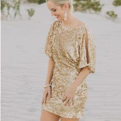 9179b38dca8d Aidan Mattox Super Sparkly Dress Gold Sequin Dress, Gold Sequins, Boho  Wedding Dress,
