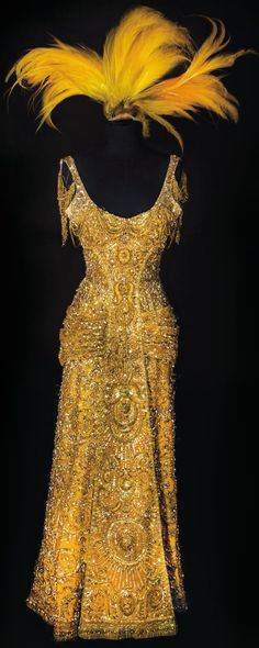 Barbara Streisand's dress from Hello Dolly! Slightly too late, sold as part of Debbie Reynolds collection last year.