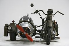 Ready for take off? Hop into this World War II German fighter plane sidecar!