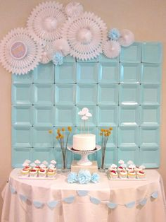 Plates diy backdrop, party backdrops, frozen party backdrop, diy birthday b Baby Shower Backdrop, Diy Backdrop, Baby Boy Shower, Cheap Backdrop, Diy Birthday Backdrop, Cake Table Backdrop, Baby Shower Photo Booth, Party Kulissen, Shower Party