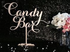 Candy Bar Table Sign Candy Bar Sign Sweets by PSWeddingsandEvents