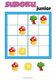 Sudoku for Kids – Bugs – KidsPressMagazine… – family activities Kindergarten Games, Math Games, Toddler Activities, Activities For Kids, Sudoku Puzzles, Logic Puzzles, Word Puzzles, Math Early Finishers, Brain Games