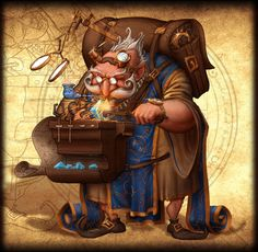Gnome Artisan Fantasy Rivals by Samuel PIRLOT-Petroff, via Behance
