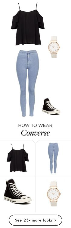 """Unbenannt #903"" by littlewonder2504 on Polyvore featuring Topshop and Converse"