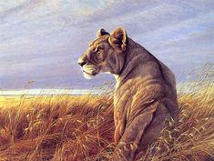 Robert Bateman. Анималистическая живопись. Львица