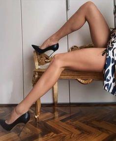 Pink High Heels, Sexy High Heels, High Heel Pumps, Stiletto Heels, Black Stilettos, Pantyhose Heels, Stockings Heels, Gorgeous Heels, Sexy Legs And Heels