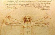 Image: Drawing of The Vitruvian Man