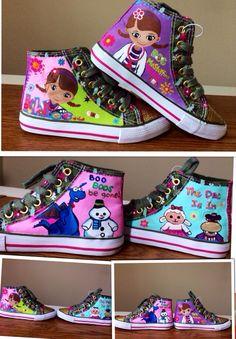 Doc Mcstuffin hand painted shoes