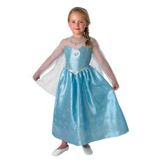 Licensed costume from the epic Disney adventure 'Frozen', the Elsa Deluxe Costume is also known as Elsa the Snow Queen Costume featuring full dress. Disney Fancy Dress, Fancy Dress For Kids, Meme Costume, Costume Dress, Frozen Disney, Film Frozen, Anna Disney, Disney Disney, Princess Costumes