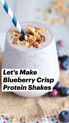 Cherry Smoothie, Fruit Smoothie Recipes, Protein Shake Recipes, Juice Smoothie, Smoothie Bowl, Protein Shakes, Healthy Juices, Healthy Smoothies, Healthy Snacks