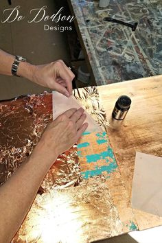 Wise Owl Chalk Synthesis Paint With Copper Leaf