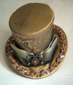 Indian Sari Inspired Mini Top Hat