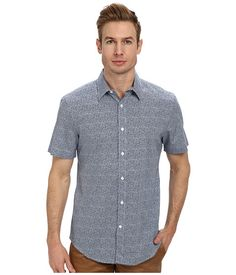Perry Ellis Short Sleeve Printed Dot Shirt Ink - Zappos.com Free Shipping  BOTH Ways