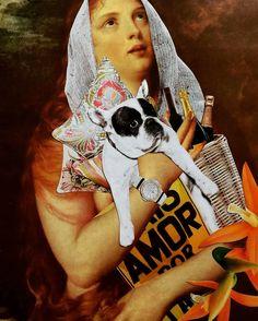 """Colagem handmade sem uso de computador apenas com bisturi e tesoura. Da série: A Arte na Arte - """"Mais amor por favor"""" Impressão tanto na decoração quanto na moda. #colagem #arte #design #moda #decoração #handmade #galeria #collageart  #collage #art #fotografia #fashion #gallery #kasaldesign"""