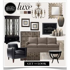 Polyvore Project Decorate 5 by jpetersen on Polyvore featuring interior, interiors, interior design, дом, home decor, interior decorating, Serena & Lily, Jayson Home, Kathy Ireland and Ralph Lauren