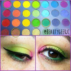 4 looks using the BH Cosmetics Take me to Brazil eyeshadow palette