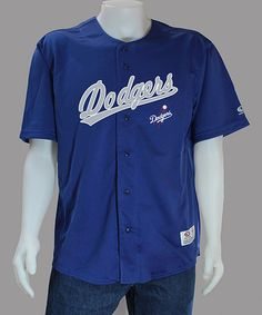 Take a look at this Royal Los Angeles Dodgers Jersey - Men by Stitches Athletic Gear on #zulily today!