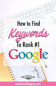 How to find keywords to rank #1 on Google search! SEO is very important for new bloggers. Look for keywords that will be profitable and competitive for your blog from the start!