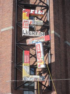 ART // more 'HOTEL' sculpture by Tom Fruinis in Brooklyn - made from scavenged signs & new neon!!