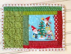 Your place to buy and sell all things handmade Christmas Mug Rugs, Christmas Drinks, Christmas Colors, Christmas Projects, Christmas Tree, Tablerunners, Place Mats, Patch Quilt, Hot Pads